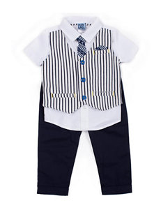 Boys Rock 3-pc. Stripe Vest & Tie Set - Baby 12-24 Mos.