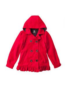 Rothschild Red Hooded Peacoat - Girls 7-16
