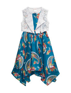 Youngland 2-pc. Floral Chiffon Dress & Vest Set - Toddlers & Girls 4-6x