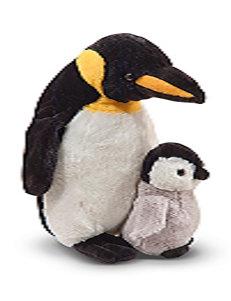 Melissa & Doug Webber Penguin & Baby Plush Set
