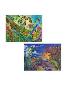 Melissa & Doug Jigsaw Puzzle Bundle - Dinosaurs & Bugs
