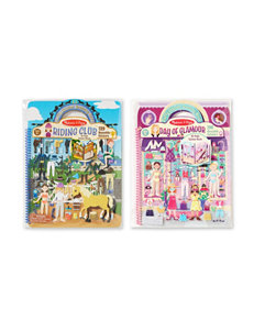Melissa & Doug Sticker Activity Book Bundle -  Day Of Glamour & Horse Scenes