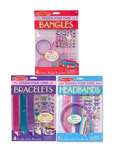 Melissa & Doug Design-Your-Own Bundle - Bracelets, Headbands & Bangles