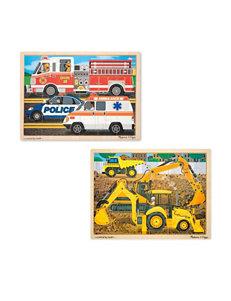 Melissa & Doug Construction & Rescue Jigsaw Puzzle Bundle
