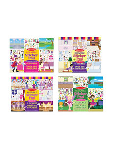 Melissa & Doug Reusable Stickers Bundle - Fairy, Princess, Dress-Up & Play House