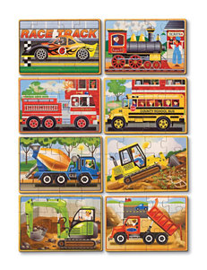 Melissa & Doug Vehicle & Construction Jigsaw Puzzle Bundle