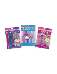 Melissa & Doug Design-Your-Own Accessories Bundle - Bracelets, Headbands & Rings