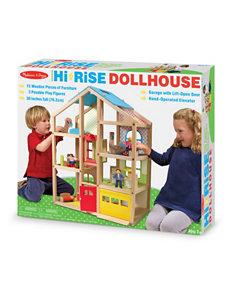 Melissa & Doug 19-pc. High Rise Doll House Set