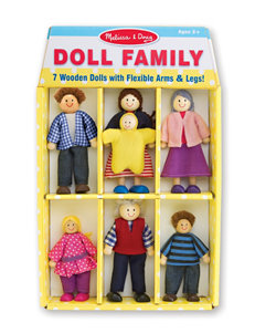 Melissa & Doug 7-pc. Doll Family