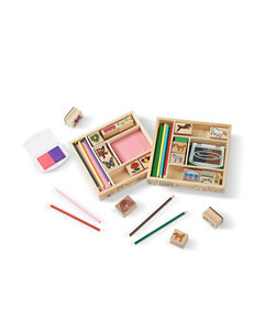 Melissa & Doug Wooden Stamp Bundle - Friendship & Horses
