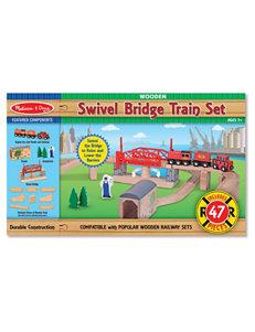 Melissa & Doug 47-pc. Swivel Bridge Train Set