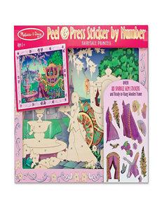 Melissa & Doug Peel & Press Sticker By Number - Fairytale Princess