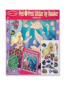 Melissa & Doug Peel & Press Sticker By Number - Mermaid Reef