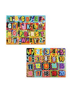 Melissa & Doug 2-pk. Alphabet & Numbers Jumbo Chunky Puzzle Set