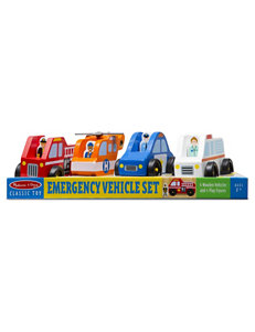 Melissa & Doug 8-pc. Emergency Vehicles Set