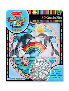 Melissa & Doug Stained Glass Dolphins