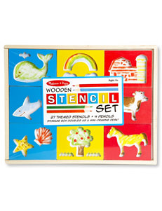 Melissa & Doug 31-pc. Wooden Stencil Box