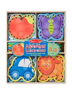 Melissa & Doug 52-pc. Alphabet Lacing Cards Set