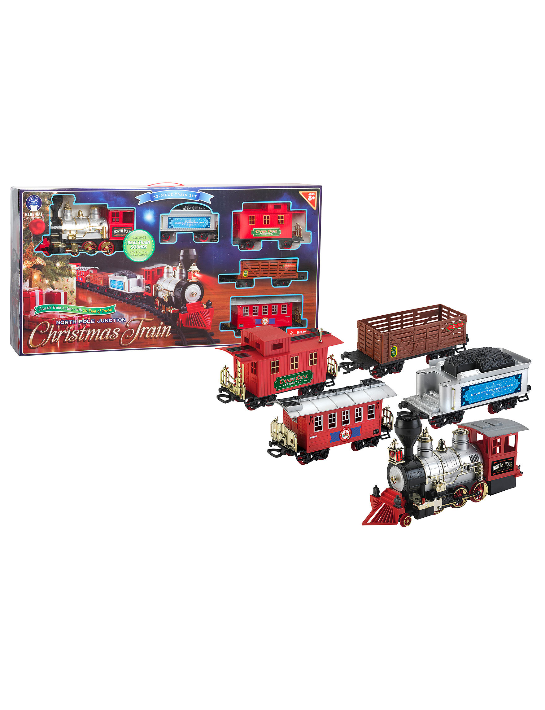 UPC 694202313589 - Blue Hat North Pole Junction Christmas Train Set ...