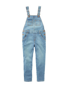 OshKosh B'gosh Light Wash Denim Overalls - Girls 4-8