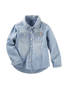 OshKosh B'gosh Chambray Top - Toddler Girls