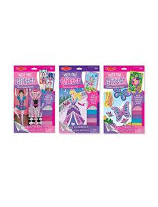 Melissa & Doug Mess Free Glitter Bundle - Fairies, Flowers, Fashions & More