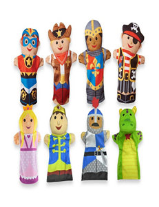 Melissa & Doug Hand Puppet Adventure Bundle - Bold Buddies & Palace Pals