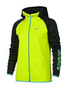 Nike Neon Yellow Therma Training Hoodie - Girls 7-16