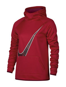 Nike Red Therma Training Pull-Over - Girls 7-16