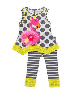 Rare Editions 2-pc. Flamingo Top & Leggings Set - Toddlers & Girls 4-6x
