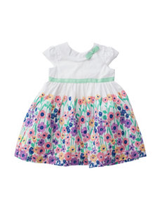 Blueberi Boulevard Printed Border Dress - Baby 12-24 Mos.