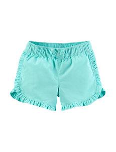 Carter's Mint Ruffle Shorts - Girls 4-8