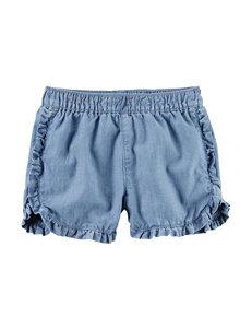 Carter's Ruffle Chambray Shorts - Girls 4-8