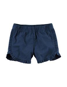 Carter's Blue Ruffle Shorts - Girls 4-8
