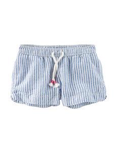 OshKosh B'gosh Striped Print Twill Shorts - Girls 4-8