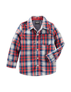 OshKosh B'Gosh Poplin Plaid Top - Boys 4-8