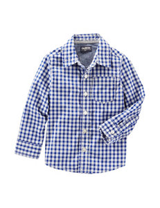 OshKosh BGosh Blue & White Plaid Top - Boys 4-8