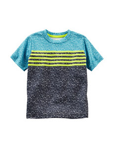 OshKosh B'gosh Green Color Block Texture T-Shirt - Toddler Boys