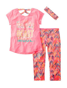 RBX 3-pc. Beauty in Beast Mode Athletic Top & Leggings Set - Girls 7-16