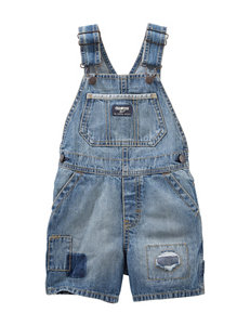 OshKosh B'gosh Rip & Repair Denim Shortalls - Toddler Boys