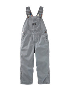 OshKosh B'gosh Plaid Lined Overalls - Toddler Boys