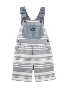 OshKosh B'gosh Striped Shortalls - Toddler Boys