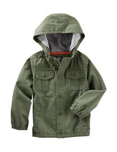 Oshkosh B'Gosh Green Fleece & Soft Shell Jackets