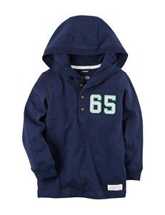 Carter's Hooded Henley Sweater - Toddler Boys