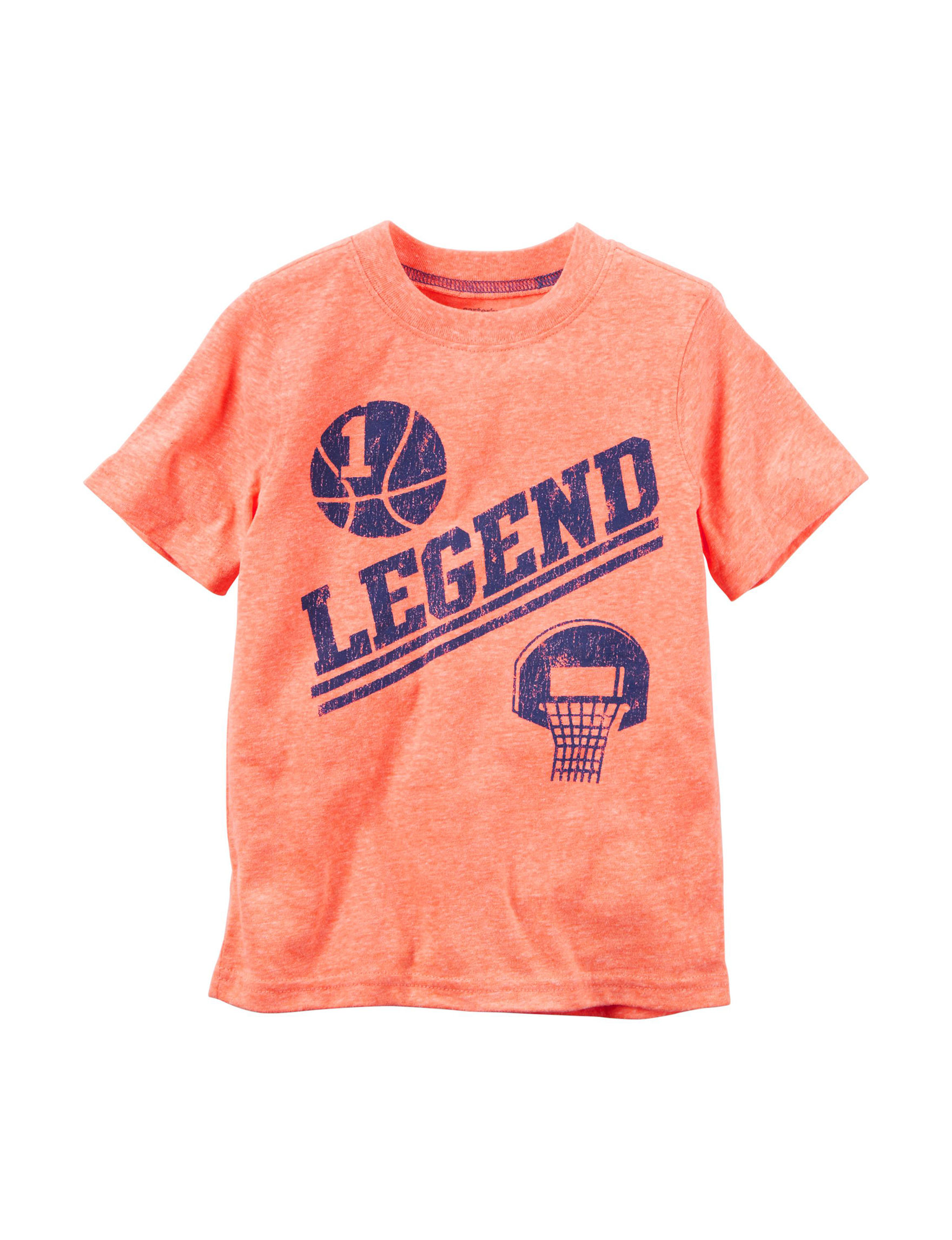 Carter's Orange Heather Tees & Tanks