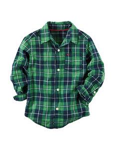 Carter's Plaid Print Woven Shirt - Toddler Boys