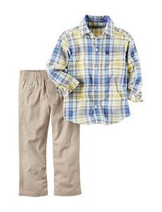 Carter's 2-pc. Plaid Print Top & Pants Set - Toddler Boys