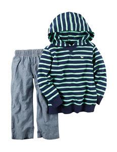 Carter's 2-pc. Stripe Print Hoodie & Pants Set - Toddler Boys