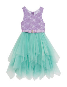 Rare Editions Cascading Tulle Dress - Girls 4-6x