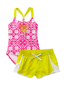 Limited Too Pink One-piece Swimsuits Swimsuit Sets Boyshort
